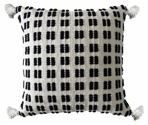 Chicos Home Decorative Throw Pillow - Black/White Perspective: front