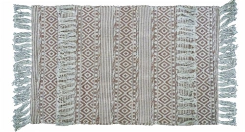 Chicos Home Modern Area Rug with Fringe Perspective: front