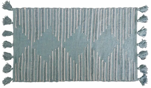 Chicos Home Modern Area Accent Rug with Fringes Perspective: front