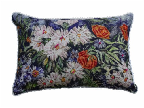 Chicos Home Flower Decorative Pillow Cover Perspective: front