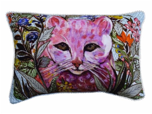 Chicos Home Alice Cat Decorative Pillow Cover Perspective: front