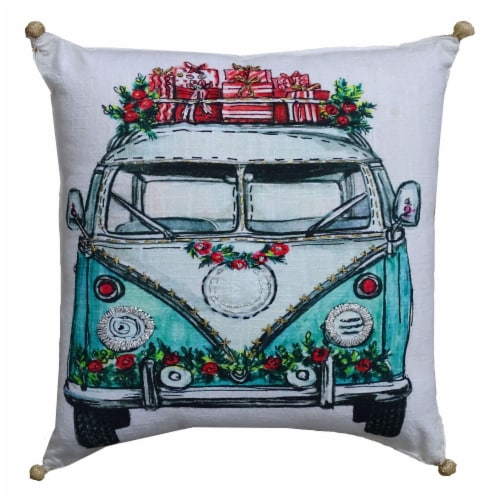 Chicos Home Holiday Van Christmas Pillow Cover Perspective: front