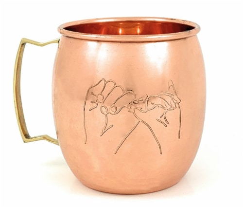 Vibhsa Handcrafted Moscow Mule Copper Mugs 2 Count Perspective: front