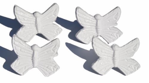 Vibhsa Butterfly Napkin Rings - White Perspective: front