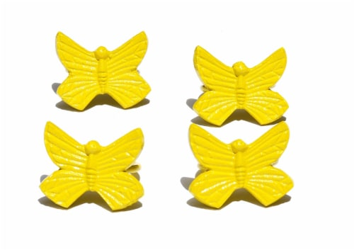 Vibhsa Butterfly Napkin Rings - Yellow Perspective: front