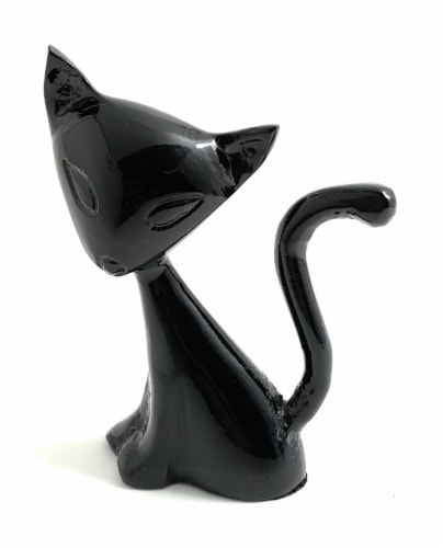 Vibhsa Cat Ring Holder - Black Perspective: front