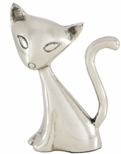 Vibhsa Cat Ring Holder - Silver Perspective: front