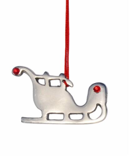Vibhsa Handmade Santa Sleigh Christmas Ornaments Perspective: front