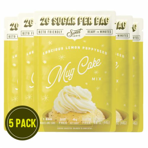 Sweet Logic Lemon Poppy Seed Mug Cake (5-Pack) Perspective: front