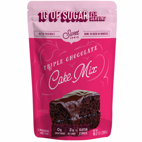 Sweet Logic Keto Chocolate Cake Baking Mix Perspective: front