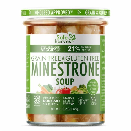 Safe Harvest Grain and Gluten Free Minestrone Soup Perspective: front