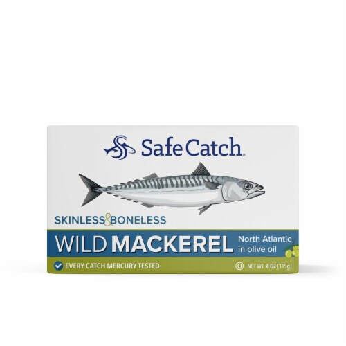 Safe Catch Skinless & Boneless Mackerel in Olive Oil Perspective: front
