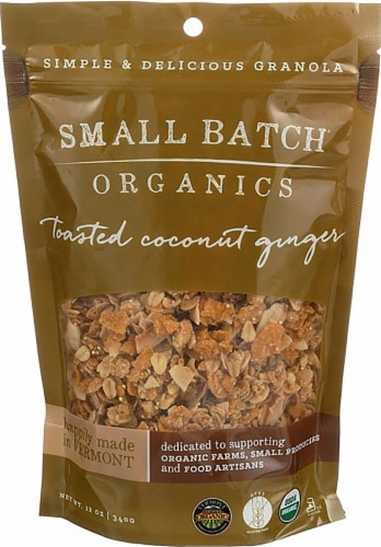 Small Batch Organics Gluten Free Toasted Coconut Ginger Granola Perspective: front