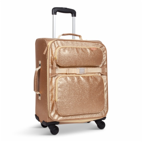 Bixbee Sparkalicious Young Traveler Luggage - Gold Perspective: front