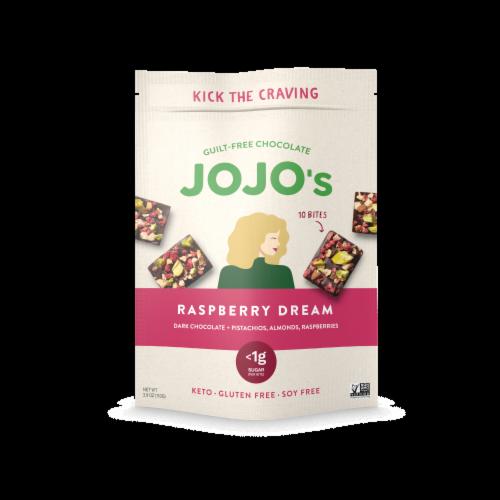 JOJO's Raspberry Dream Guilt-Free Chocolate Bites Perspective: front