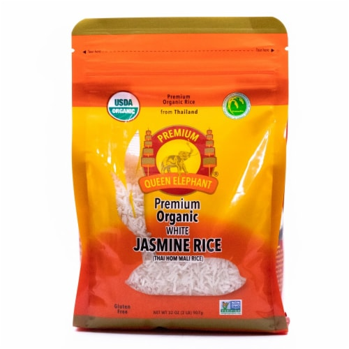 Queen Elephant Organic Jasmine White Rice Perspective: front