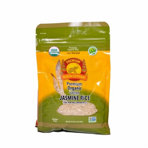 Queen Elephant Premium Organic Brown Jasmine Rice Perspective: front