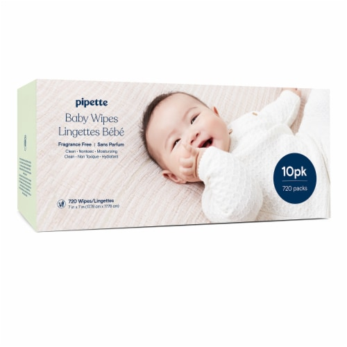 Pipette Fragrance Free Baby Wipes Perspective: front