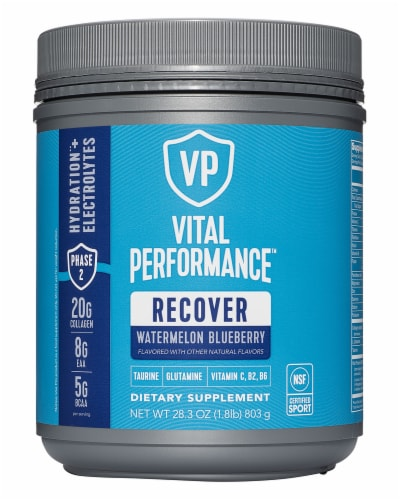 Vital Proteins Watermelon Blueberry Performance Recover Powder Perspective: front