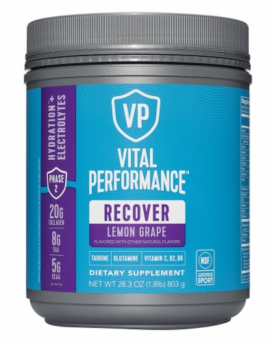 Vital Proteins Lemon Grape Performance Recover Powder Perspective: front