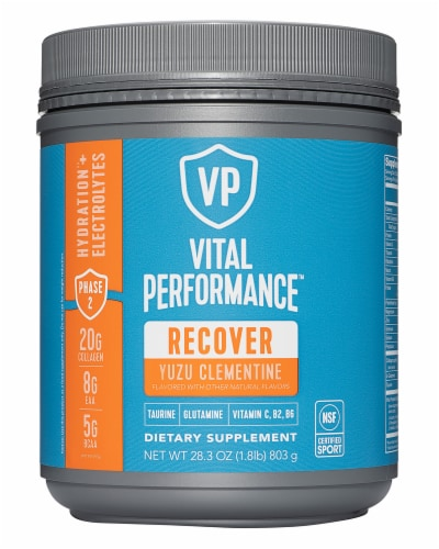 Vital Proteins Yuzu Clementine Performance Recover Powder Perspective: front