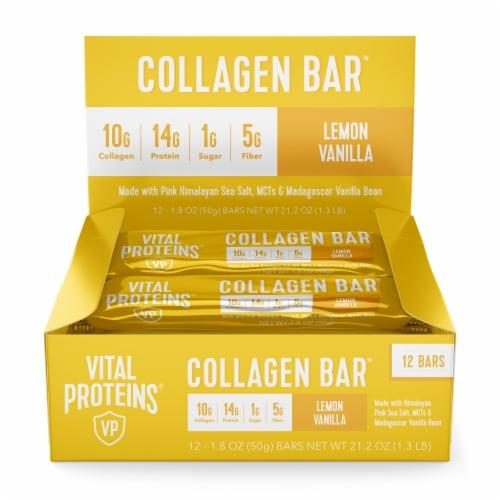 Vital Proteins Lemon Vanilla Collagen Bars Perspective: front