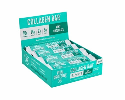Vital Proteins Mint Chocolate Collagen Bars Perspective: front