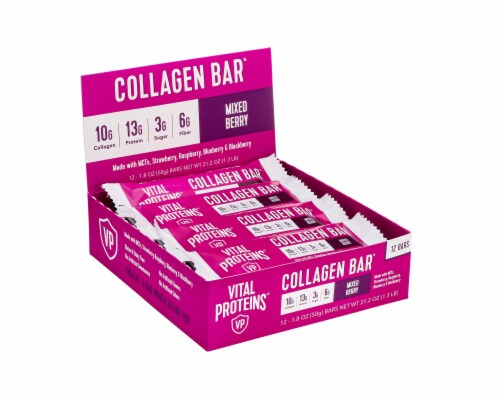 Vital Proteins Mixed Berry Collagen Bars Perspective: front