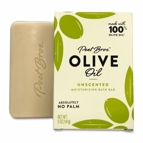 Peet Bros. Olive Oil Unscented Moisturizing Bar Soap Perspective: front