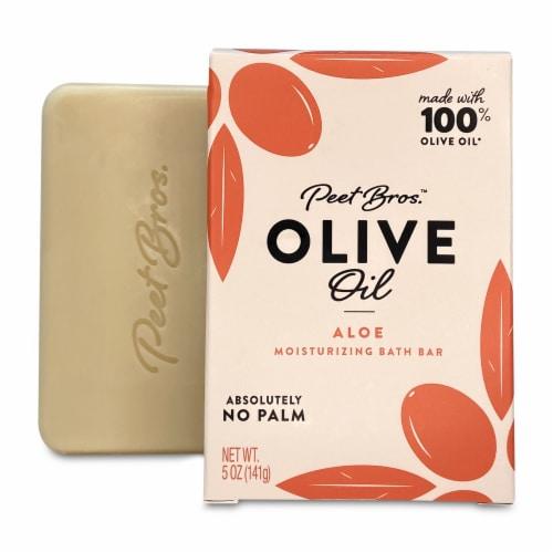 Peet Bros. Olive Oil Aloe Moisturizing Bar Soap Perspective: front