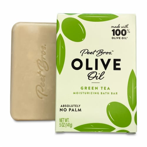Peet Bros. Olive Oil Green Tea Moisturizing Bar Soap Perspective: front