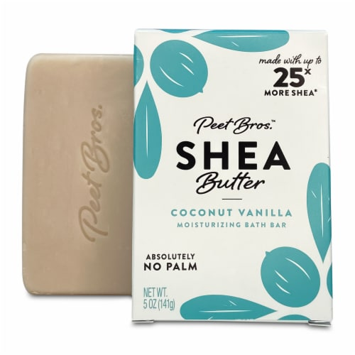 Peet Bros. Coconut Vanilla Shea Butter Bar Soap Perspective: front