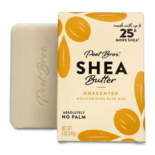 Peet Bros. Shea Butter Unscented Bar Soap Perspective: front