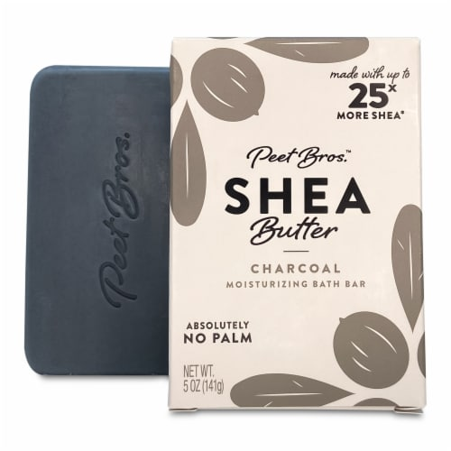 Peet Bros. Charcoal Shea Butter Bar Soap Perspective: front