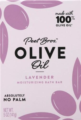 Peet Bros. Lavender Olive Oil Bar Soap Perspective: front