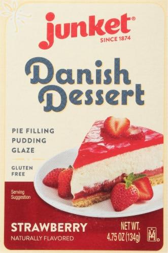 Junket Strawberry Danish Dessert Perspective: front