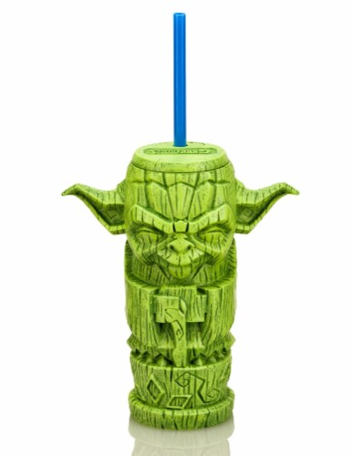 Geeki Tikis Star Wars Yoda Plastic Tumbler | Holds 17 Ounces Perspective: front