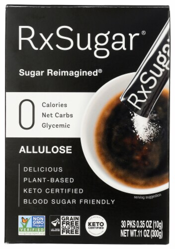RxSugar Nutritious Sugar Sticks 30 Count Perspective: front
