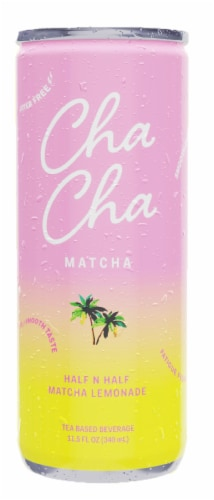 Cha Cha Matcha Half N Half Lemonade Tea Based Beverage Perspective: front