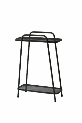 Modern Plant Stand 2 Shelf Tall Perspective: front