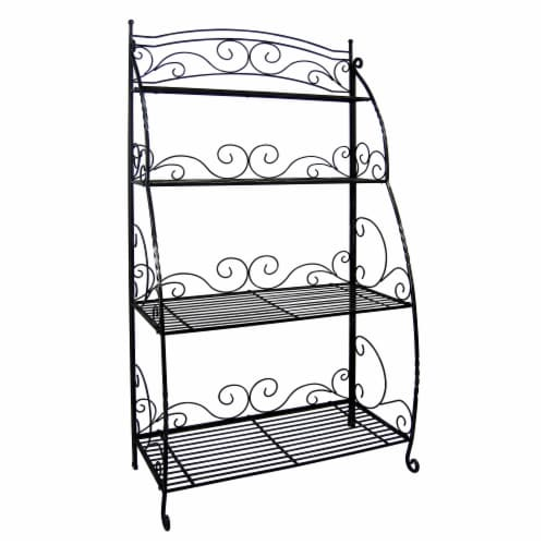 Folding Plant Stand 4 Shelf Perspective: front