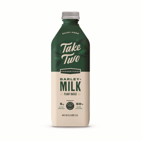 Take Two Unsweeten Barley Milk Perspective: front