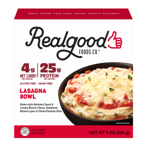 Realgood Chicken Lasagna Bowl Perspective: front
