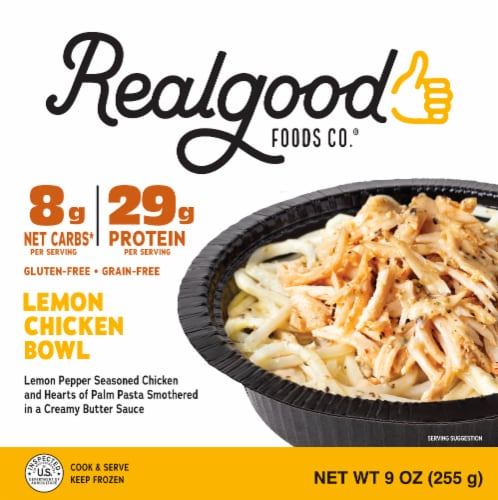 The Real Good Food Company Gluten Free Low Carb Lemon Chicken Bowl Perspective: front