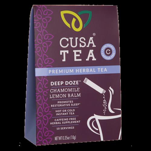 Cusa Tea Deep Doze Cold Brew Instant Herbal Tea Perspective: front