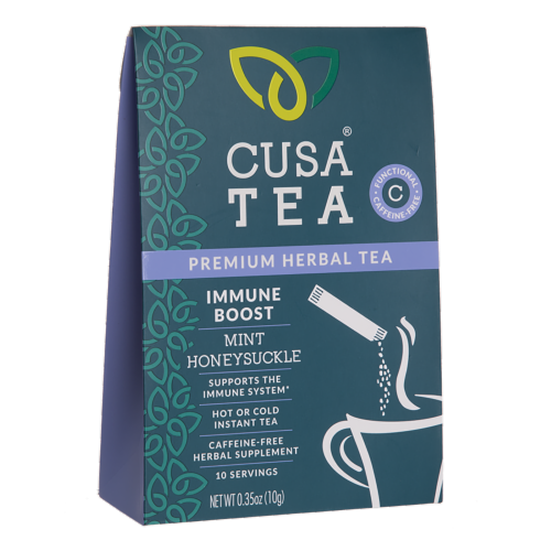 Cusa Tea Immune Boost Cold-Brew Instant Herbal Tea Perspective: front