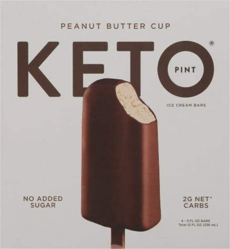 Keto Pint Peanut Butter Cup Ice Cream Bars Perspective: front