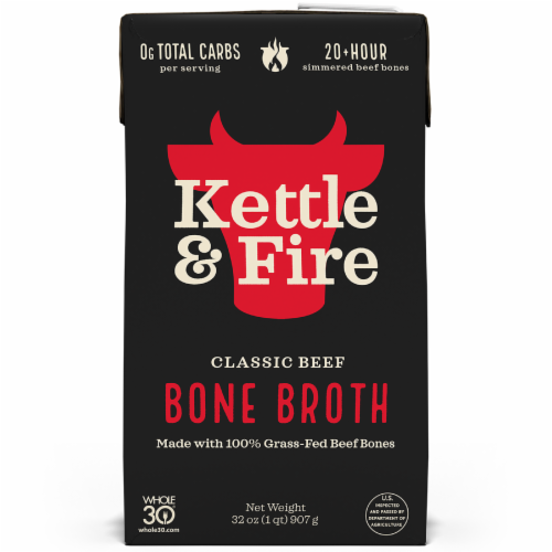 Kettle & Fire Classic Beef Bone Broth Perspective: front