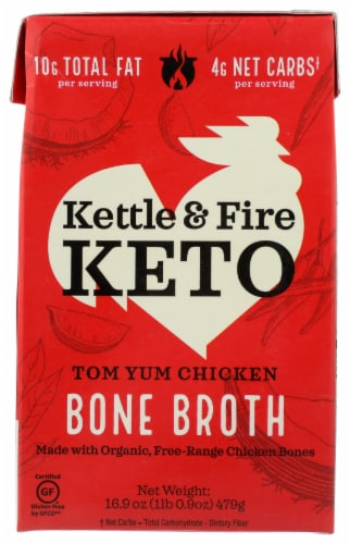 Kettle & Fire Keto Tom Yum Chicken Bone Broth Perspective: front