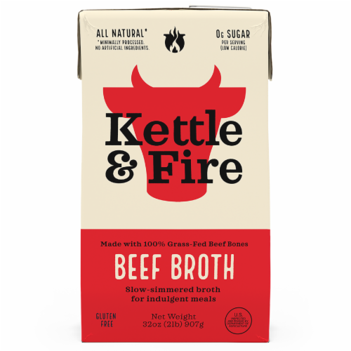 Kettle & Fire Traditional Beef Broth Perspective: front
